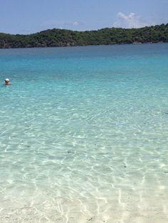 Coki beach. St Thomas island.