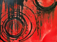 art images in black an red | ... ART BY SHARON CUMMINGS GALLERY > Success - Red & Black Art Painting