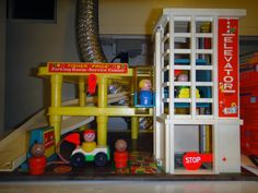 fisher price gas station vintage | HOT WITH FLEAS