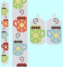 Liquid Sunshine Bracelet and Earring Pattern Set