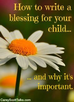 Speaking words of encouragement and destiny to our kids unleashes divine power into their lives. It helps set them up for success. When we do, God hears us and blesses our words. Here's how to write a blessing for your children that will affirm and empower. #parenting #blessing #faith