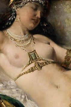 Detail from 'Odaliske' by Franz Lefler, 1880