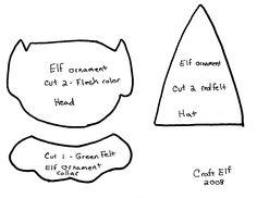 felt ornaments patterns   Craft_elf_Christmas_felt_elf_ornament_printable_felt%20elf%20ornament ...