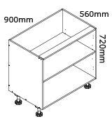 kaboodle flat pack kitchen 900mm base cabinet
