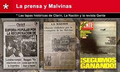 """* Salvo excepciones, la mayoría de los medios gráficos, televisivos y radiales se sumaron al sentimiento triunfalista que proclamaba el Gobierno militar.*Títulos como """"Euforia popular por la recuperación de Malvinas"""", Estamos Ganando o En las Malvinas hay Gobierno argentino, cubrieron las tapas de diarios y revistas."""