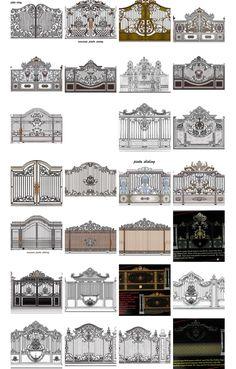 Grill Gate Design, House Main Gates Design, Balcony Grill Design, Steel Gate Design, Front Gate Design, Double Door Design, Window Grill Design, Home Gate Design, Door Design Interior