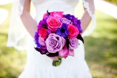 Bright pinks and purples make this bouquet pop!