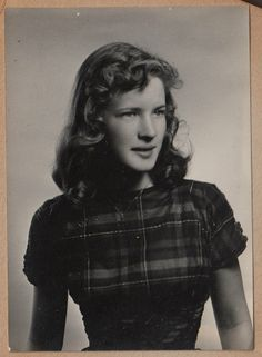 Joan at age 17. She said that no one ever called her pretty (but they definitely called her fierce).