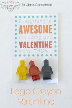 DIY Lego Crayons Valentine
