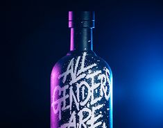 Painted Letters, Hand Painted, Absolut Vodka, All The Colors, Vodka Bottle, Im Not Perfect, Lettering, Creative, Behance