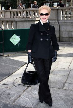 Carolina Herrera Pea Coat - Carolina Herrera Clothes Looks - StyleBistro