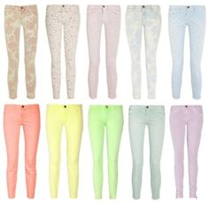 Pastel jeans   Already got the yellow and mint, time for the rest!