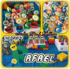 Toppers,  Nomes Decorados - Tema LEGO