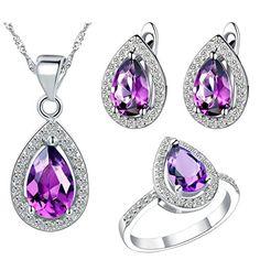 Virgin Shine Platinum Plated Rhinestone Angel Tear Jewelry Sets Purple VIRGIN SHINE http://www.amazon.com/dp/B00L14AEPA/ref=cm_sw_r_pi_dp_eWrrub085EMED
