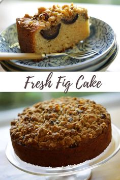 This Fresh Fig Cake Recipe with Crumb Topping is perfect for late summer entertaining. The cake can be made with figs, pears or sliced apples.  #entertainingwithbeth #figcake #freshfigs #brunchrecipes #brunchcake Easy Summer Desserts, Easy Brunch Recipes, Fall Dessert Recipes, Easy Cake Recipes, Fall Desserts, Just Desserts, Baking Recipes, Brunch Ideas, Recipes
