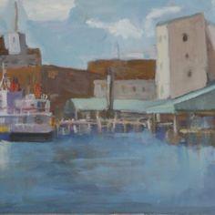 Portland Ferries by Jillian Herrigel, Dimensions: 12 x 24 in, Price: $350.00