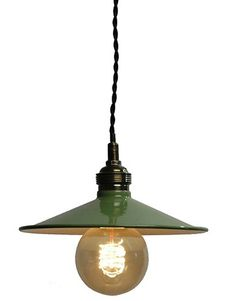1920s Swiss Industrial Design Enamel Ceiling Lamp (2 Available)