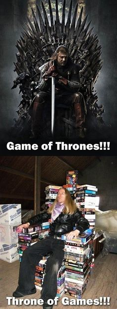 Game of thrones vs throne of games. Soon we will be able to do that in our place ! Spéciale dédicasse à Guillaume ;-)