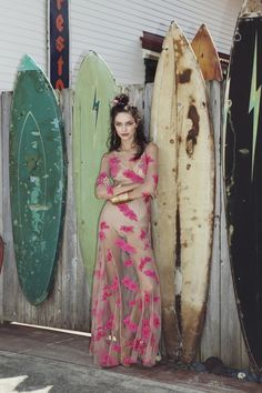 Our Orchid Maxi Dress in Paradise Pink | For Love & Lemons PACIFIC GETAWAY Spring 2015 Lookbook