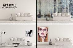Art Wall Mock-ups VOL.6 by RD DesignStudio on @creativemarket