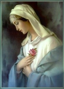 Shop Funeral Catholic Blessed Virgin Mary Prayer Card created by ShowerOfRoses. Catholic Funeral, Catholic Prayers, Blessed Mother Mary, Blessed Virgin Mary, Prayers To Mary, Queen Of Heaven, My Big Love, Prayer Cards, Madonna
