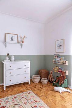 Boy Toddler Bedroom, Baby Boy Rooms, Baby Nursery Decor, Diy Bedroom Decor, Home Decor, Baby Room Neutral, Baby Room Green, Baby Corner, Baby Room Design