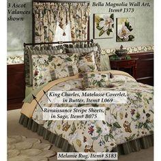 Garden Images III Magnolia Floral Comforter Bedding. Magnolia Bedspread ...