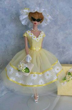Yellow Net Frock For Silkstone BArbie Doll