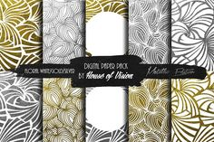 Floral Wht Silver/Gold Pack by House of Vision on @creativemarket