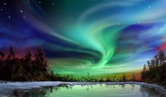 Fondo pantalla Paisaje Aurora Boreal
