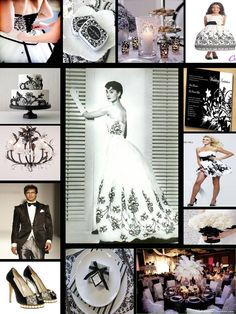 Black and White Color Palette: Inspired by Audrey Hepburn as Sabrina #YourBridalStop