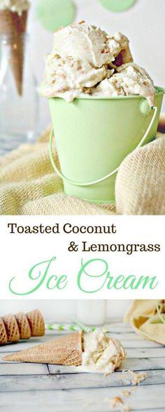 Toasted Coconut & Lemongrass Ice Cream | thecinnamonscroll... @Amanda | The Cinnamon Scrolls