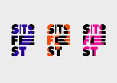 Sitofest is an independent silkscreen festival organised by the biggest Warsaw-based silkscreen studios.All the materials were silkscreen printed by the organisers, so the task was to create an identity cheap in production, easy to adapt and print. Japanese Graphic Design, Graphic Design Posters, Graphic Design Typography, Identity Design, Visual Identity, Logo Design, Brand Identity, Creative Poster Design, Typo Logo