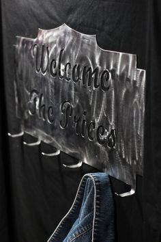 Custom Coat Rack Wedding Sign Keyring Holder Hat by WeldingByWhitt, $40.00