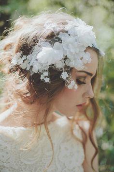 stunning floral headpiece!
