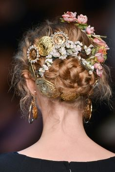 Dolce & Gabbana Spring/Summer 2014, Hair Details.