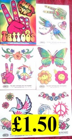 Image detail for -Cool Stuff - hippie stuff, hippy tattoos & 70s hippie jewellery ...