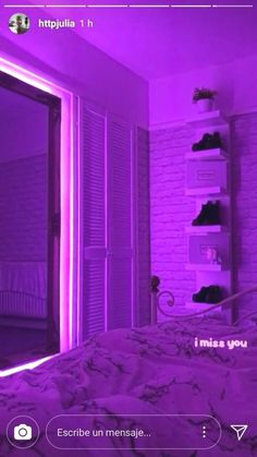 ✨ LED Strip Lights 💡 - Tiktok Videos about you searching for. Cute Room Decor, Teen Room Decor, Room Ideas Bedroom, Bedroom Decor, Girl Apartment Decor, Neon Bedroom, Neon Lights Bedroom, Chill Room, Led Stripes