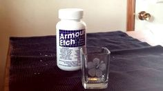 In this video I will teach you how to get better results using Armour Etch glass etching cream, and not the normal splotchy results that you might be used to...