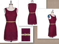 Maroon Lace Dress :) Go STATE!