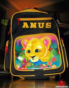 Simply an Anus branded kids rucksack.