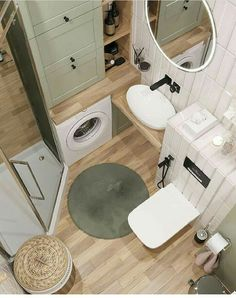 Small Apartment Interior, Small Apartment Design, Small Apartments, Tiny House Bathroom, Bathroom Design Small, Bathroom Interior Design, Tiny Bathrooms, Appartement Design, Bathroom Styling