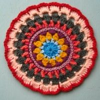 Crochet Mandala Wheel made by Monika, London, UK, for yarndale.co.uk