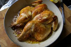 Flat Roasted Chicken! That's right, FLAT! YUM this is seriously the best chicken and its so simple and always tastes good! A FOREVER recipe!