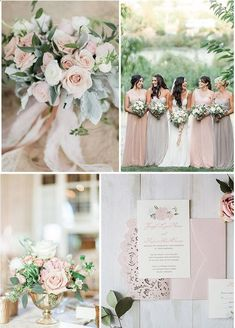 33 Blush Wedding Color Ideas for Your Wedding - Color Schemes and Designs - Blush Wedding Colors, Summer Wedding Bouquets, Spring Wedding Colors, Blush Pink Weddings, Wedding Color Schemes, Floral Wedding, Wedding Blush, Blush Color, February Wedding Colors