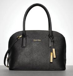 Calvin Klein satchel, polished to perfection