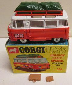 Corgi Toys 508 Commer Minibus Holiday Camp Special original | eBay