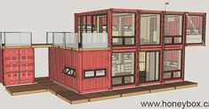 - 820 Container House - - Could you live in a shipping container? Shipping Container Homes, Shipping Containers, Cabin Homes, Tiny Homes, Smart House, Container Design, Work Spaces, Bunker, House Ideas
