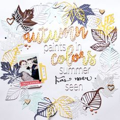 Autumn Layout by Laureen Wagener | @FelicityJane