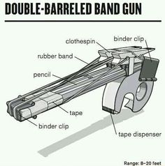 Must make this Double-Barreled Rubber Band Gun!